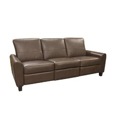 York Leather Reclining Sofa