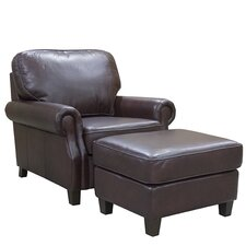 Montgomery Leather Club Chair and Ottoman