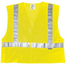Luminator Class Ii Tear-Away Safety Vests Fire Resistant Cls Ii Fluorescent  Lime Poly Msh: 611-Cl2Mlpfrm - fire resistant cls ii fluorescent  lime poly msh