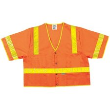 Luminator Class Iii Safety Vests Lum. Class Iii Poly Fluorescent Safety Vest Orng: 611-Cl3Sovxl - lum. class iii poly fluorescent safety vest orng