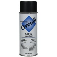 Rust-Oleum - Overall Economical Fast Drying Enamal Aerosols 830 10-Oz Flat Black Overall Industrial: 647-V2404830 - 830 10-oz flat black overall industrial