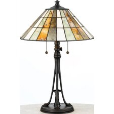 "Jade Portable Garrett 23.5"" H Table Lamp with Empire Shade"