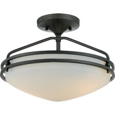 Ozark Medium Semi Flush Mount in Iron Gate