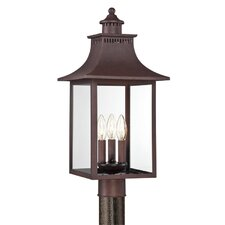 <strong>Quoizel</strong> Chancellor 3 Light Outdoor Post Lantern