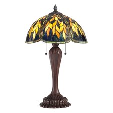 """Tiffany 26"""" H Table Lamp with Bell Shade"""