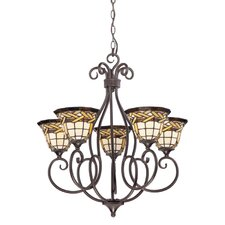 <strong>Quoizel</strong> Cross Weave 5 Light Chandelier