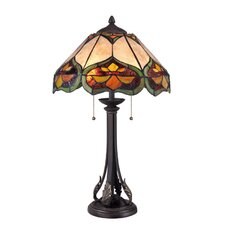 """Tiffany Monarch 25.5"""" H Table Lamp with Bowl Shade"""