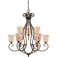 <strong>Quoizel</strong> Monterey Mosaic 9 Light Chandelier