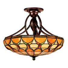<strong>Quoizel</strong> Veranda Tiffany Semi Flush Mount