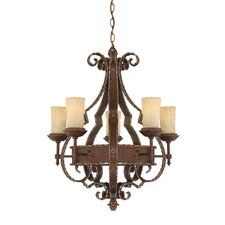 <strong>Quoizel</strong> Laredo 5 Light Chandelier