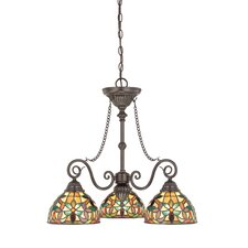 <strong>Quoizel</strong> Kami Three Light Chandelier in Vintage Bronze