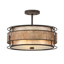 Mica 3 Light Semi Flush Mount