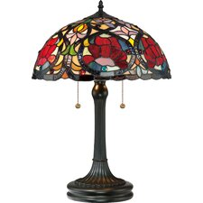 "Larissa Tiffany "" H Table Lamp with Drum Shade"
