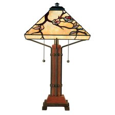 "Grove Park Tiffany 23.5"" H Table Lamp with Empire Shade"