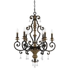 <strong>Quoizel</strong> Marquette 6 Up Light Chandelier