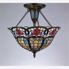 Hyacinth Tiffany Close-to-Ceiling Semi Flush Mount
