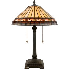 "Estacado Tiffany 23"" H Table Lamp with Empire Shade"