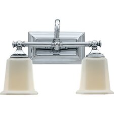 <strong>Quoizel</strong> Nicholas 2 Light Bath Vanity Light