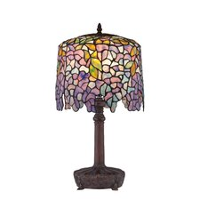 "Tiffany Wisteria 19.5"" H Table Lamp with Drum Shade"