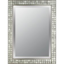 Vetreo Clouds Mirror in Brushed Nickel