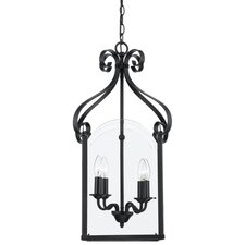 <strong>Quoizel</strong> Gentry 4 Light Caged Foyer Hanging Foyer Pendant