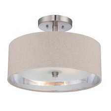 <strong>Quoizel</strong> Metro 2 Light Semi-Flush Mount