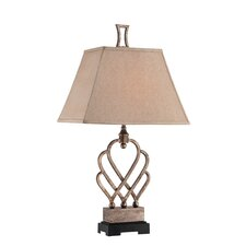 """Triheart 32.5"""" H Table Lamp with Square Shade"""