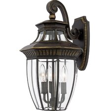 <strong>Quoizel</strong> Georgetown 3 Light Outdoor  Wall Lantern