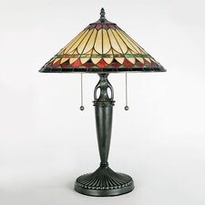 "Westlake Tiffany 23"" H Table Lamp with Empire Shade"