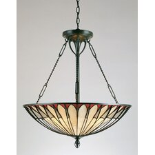 Alhambre 4 Light Tiffany Inverted Pendant