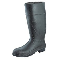 "CT™ Economy Knee Boots - 16""black knee boot pvc angle cleated sole plain"