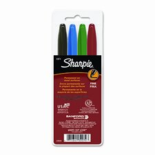Permanent Markers, Fine Point (4 Pack)