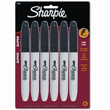 Super Permanent Markers, 6/Pack