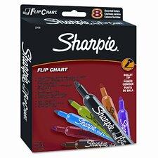 Flip Chart Markers, Bullet Tip (8 Pack)