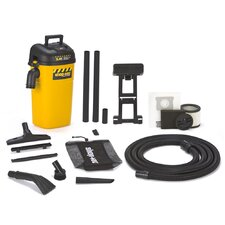 5 Gallon 5.0 Peak HP Industrial HangUp Wet / Dry Vacuum