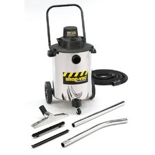 10 Gallon 2.0 Peak HP Stainless Steel Contractor Duty Wet / Dry Vacuum