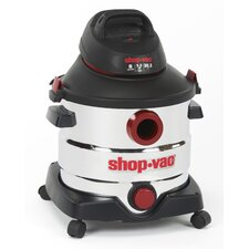 Stainless Steel Series 8 Gallon 5.5 Peak HP Wet / Dry Vacuum