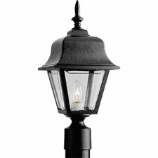 Mansard Roof Weather Resistant Incandescent Post Lantern