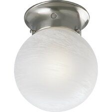 Alabaster Glass Globe Semi Flush Mount