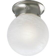 Alabaster Glass Globe Semi Flush Mount