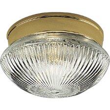 Prismatic Glass Polished Brass Semi Flush Mount