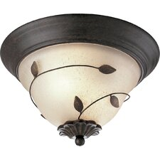 Eden Forged Bronze Flush Mount
