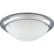<strong>Progress Lighting</strong> Eclipse Polished Brass Flush Mount