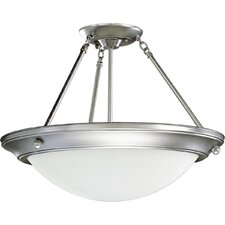 Eclipse  Polished Brass Semi Flush Mount