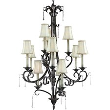 <strong>Progress Lighting</strong> Veranda 12 Light Candle Chandelier