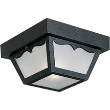 Weather Resistant  1 Light Outdoor Flush Mount
