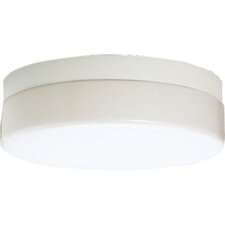 White Acrylic Contoured Ceiling Cloud Flush Mount
