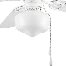 One Light Energy Star Schoolhouse Ceiling Fan Light Kit