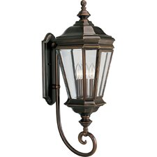 <strong>Progress Lighting</strong> Crawford Incandescent 3 Light Outdoor Wall Lantern