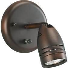 <strong>Progress Lighting</strong> Wall Mount Directional Spotlight in Urban Bronze